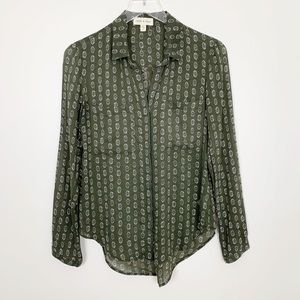 Anthropologie | Blake Buttondown Shirt XS Green